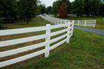 Custom White Fence